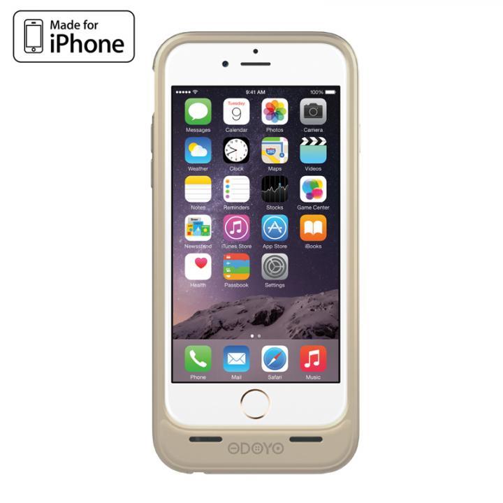 [MFi認証取得]バッテリー内蔵ケース ODOYO PowerShell EX ゴールド iPhone 6