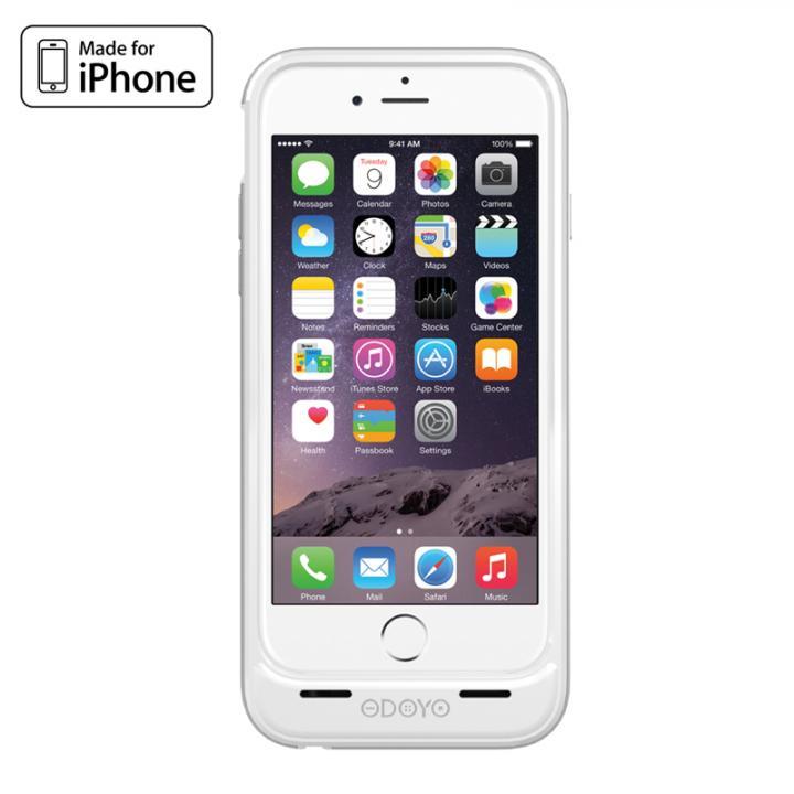 [MFi認証取得]バッテリー内蔵ケース ODOYO PowerShell EX シルバー iPhone 6
