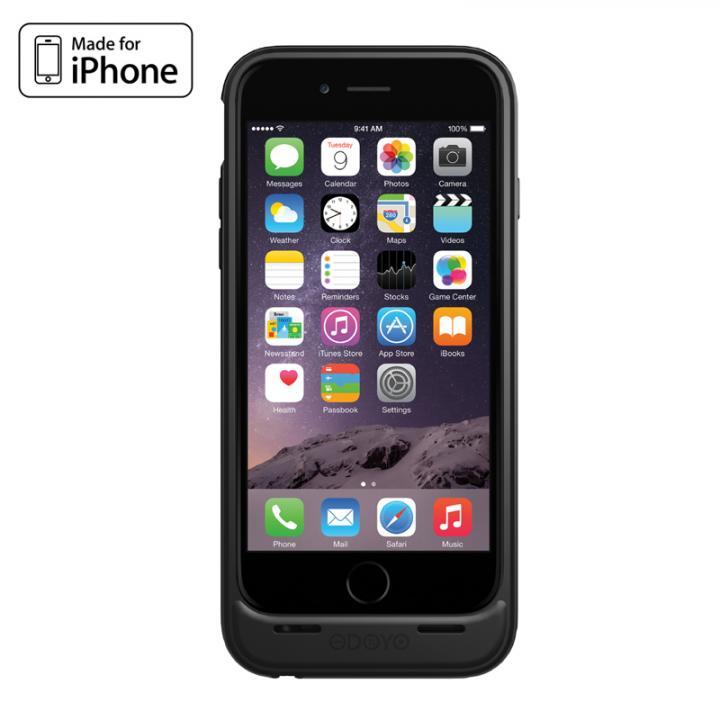[MFi認証取得]バッテリー内蔵ケース ODOYO PowerShell EX ブラック iPhone 6