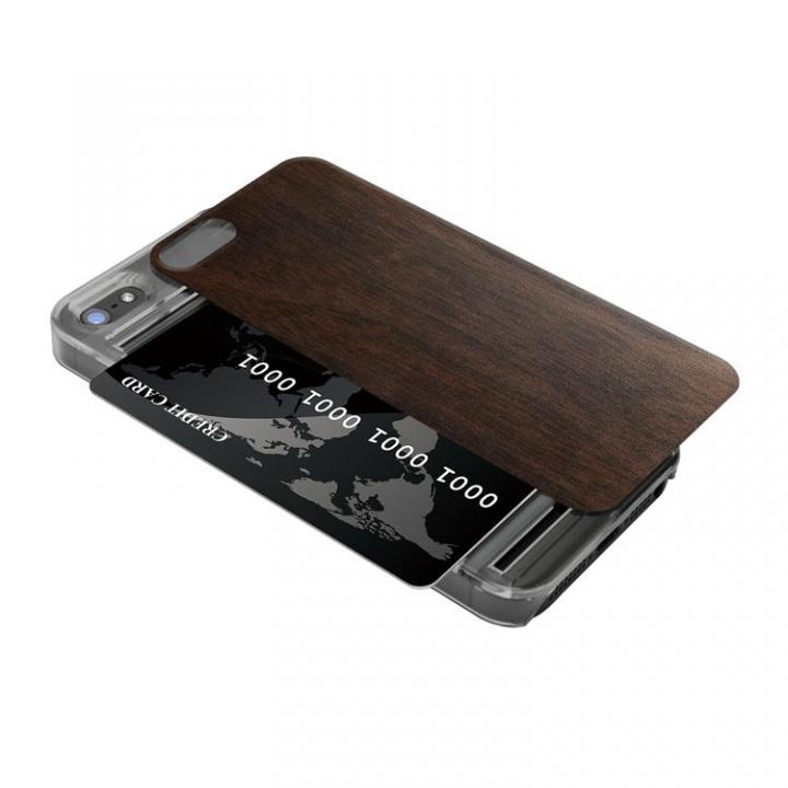 IC-COVER 木目調 iPhone SE/5s/5 ウォールナット