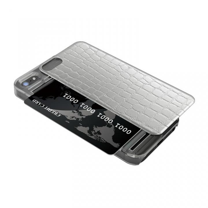 IC-COVER レザー調 iPhone5s/5 シルバー 送料無料