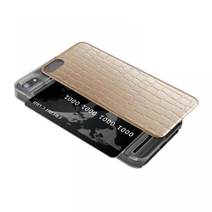 iPhone SE/5s/5 ケース IC-COVER レザー調 iPhone SE/5s/5 ゴールド_0
