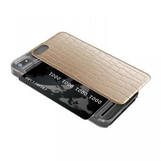 IC-COVER レザー調 iPhone SE/5s/5 ゴールド