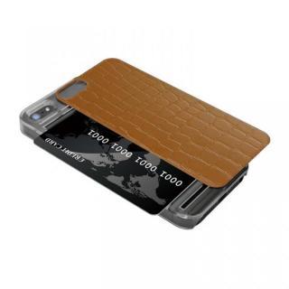 iPhone SE/5s/5 ケース IC-COVER レザー調 iPhone SE/5s/5 ブラウン