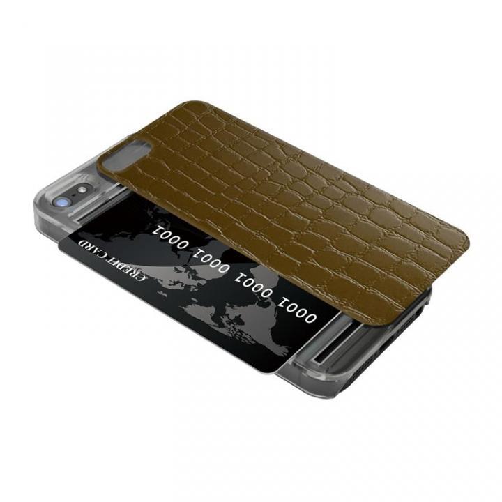 iPhone SE/5s/5 ケース IC-COVER レザー調 iPhone SE/5s/5 ダークブラウン_0