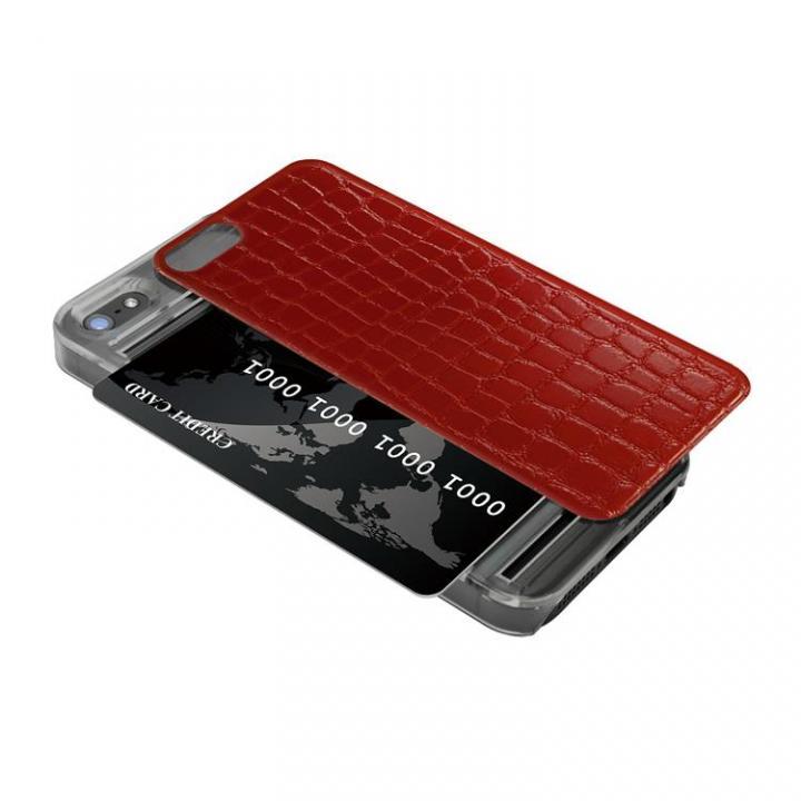 iPhone SE/5s/5 ケース IC-COVER レザー調 iPhone SE/5s/5 レッド_0