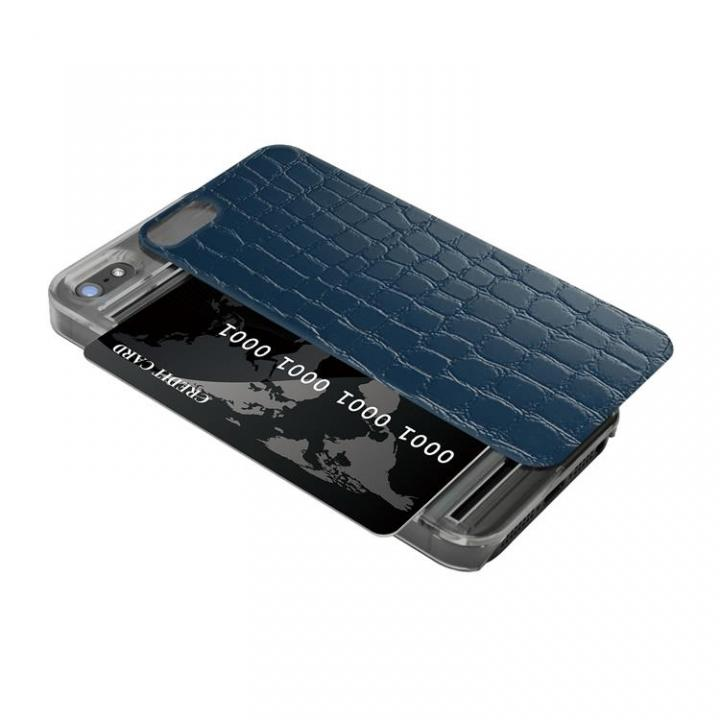 iPhone SE/5s/5 ケース IC-COVER レザー調 iPhone SE/5s/5 ブルー_0