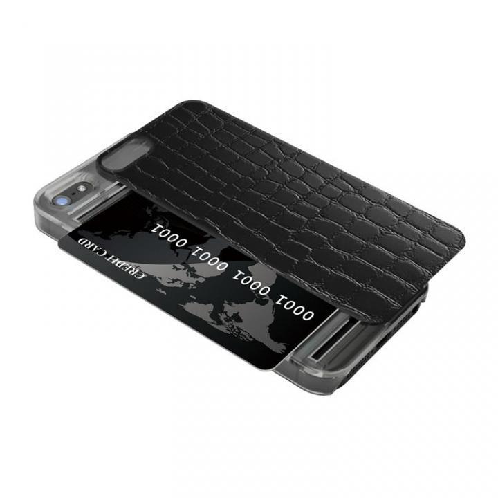 iPhone SE/5s/5 ケース IC-COVER レザー調 iPhone SE/5s/5 ブラック_0