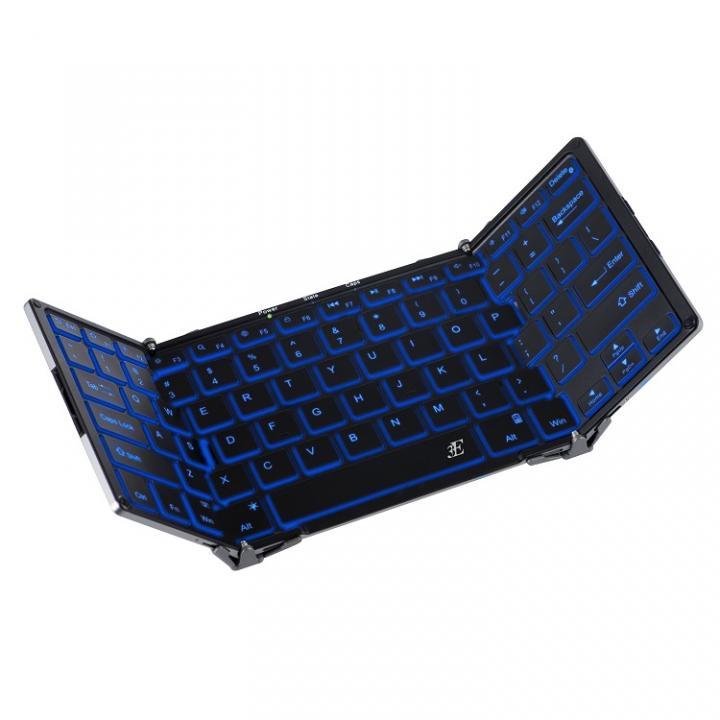 Bluetooth キーボード 3つ折りタイプ ブラック_0