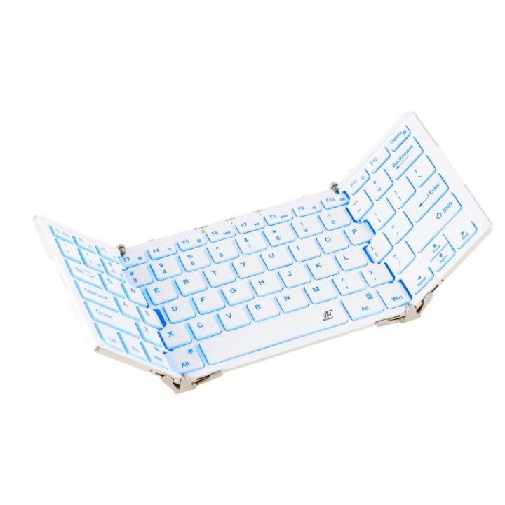 Bluetooth キーボード 3つ折りタイプ ホワイト_0
