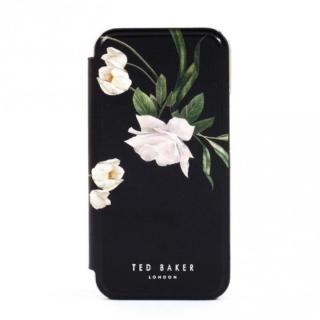iPhone 12 mini (5.4インチ) ケース Ted Baker Folio Case Elderflower Black Silver iPhone 12 mini【3月中旬】