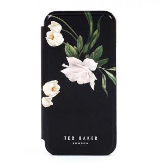 iPhone 12 / iPhone 12 Pro (6.1インチ) ケース Ted Baker Folio Case Elderflower Black Silver iPhone 12/12 Pro【3月中旬】