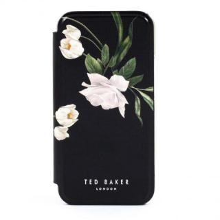 iPhone 12 Pro Max (6.7インチ) ケース Ted Baker Folio Case Elderflower Black Silver iPhone 12 Pro Max