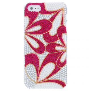 iPhone SE/5s/5 フルペーストデコレーションケース Enclosure Flower PEARL