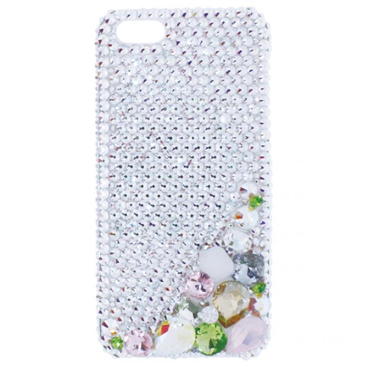 iPhone SE/5s/5 ケース iPhone SE/5s/5 3Dデコレーションケース Corner Decoration GREEN_0