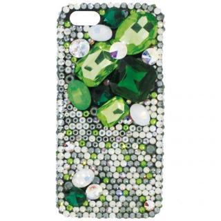 【iPhone SE/5s/5ケース】iPhone SE/5s/5 3Dデコレーションケース Top Cluster GREEN