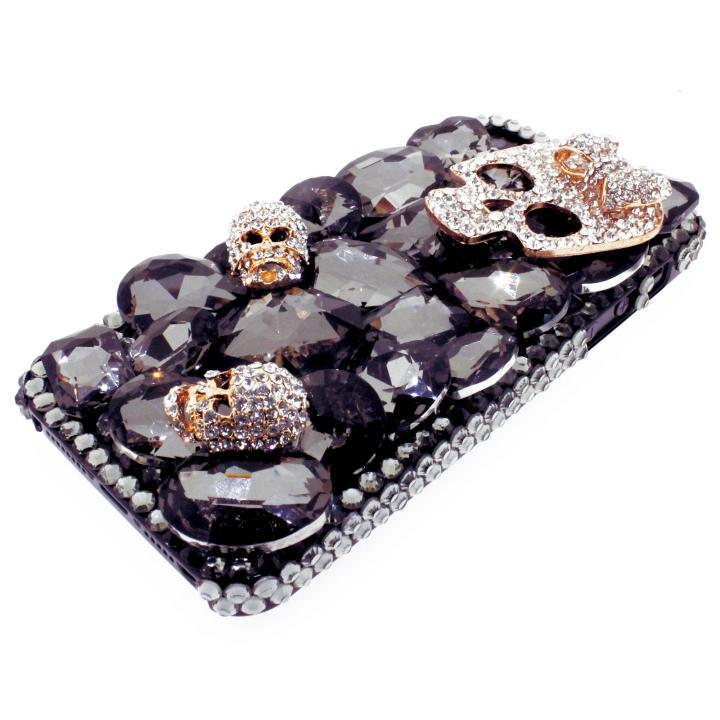 【iPhone SE/5s/5ケース】iPhone SE/5s/5 3Dデコレーションケース Tender Skelton BLACK_0