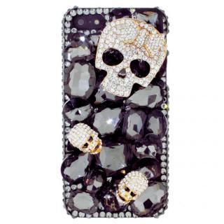 【iPhone SE/5s/5ケース】iPhone SE/5s/5 3Dデコレーションケース Tender Skelton BLACK_1