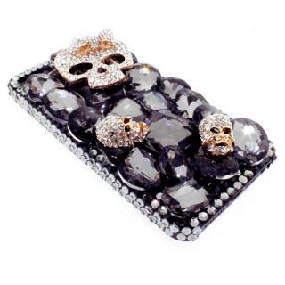 【iPhone SE/5s/5ケース】iPhone SE/5s/5 3Dデコレーションケース Tender Skelton BLACK_3