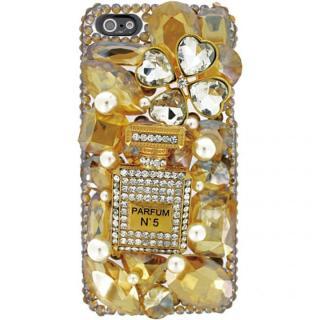 iPhone SE/5s/5 3Dデコレーションケース Perfume GOLD