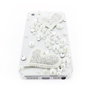 【iPhone SE/5s/5ケース】iPhone SE/5s/5 クリアデコレーションケース Piled Up Heart CLEAR_2