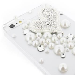 【iPhone SE/5s/5ケース】iPhone SE/5s/5 クリアデコレーションケース Piled Up Heart CLEAR_5