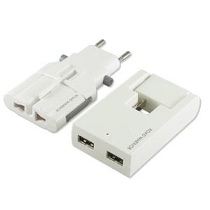 USB対応マルチ電源変換アダプター(ホワイト)_1