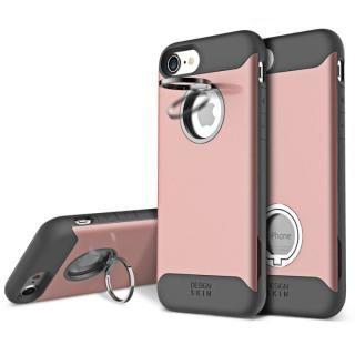 背面リング付ケース DESIGN SKIN STANDO ローズゴールド iPhone 7