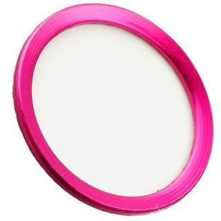 TouchID対応 ホームボタンシール iFinger ホワイトピンク