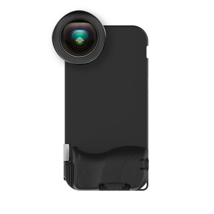 iPhone7 ケース SNAP! 7 Photographer Set ケース+HDワイドアングルレンズ EF 18mm ブラック iPhone 7_0