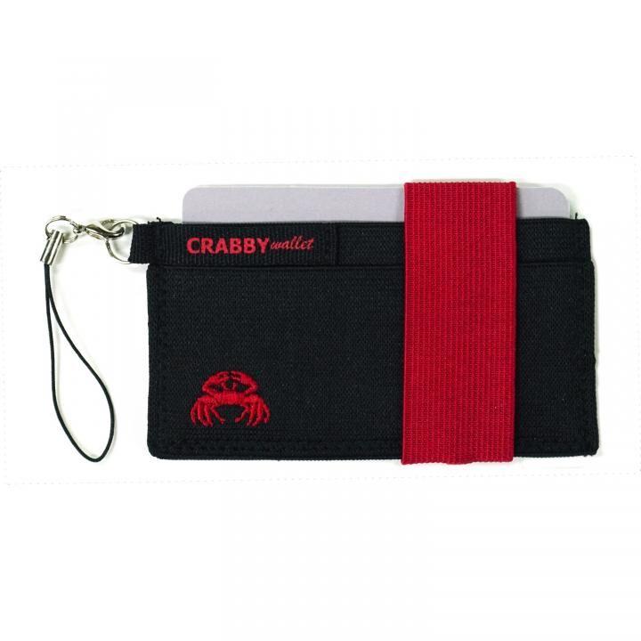 スマホに巻ける財布 Crabby Wallet V2 スポーティゴム版 レッド_0
