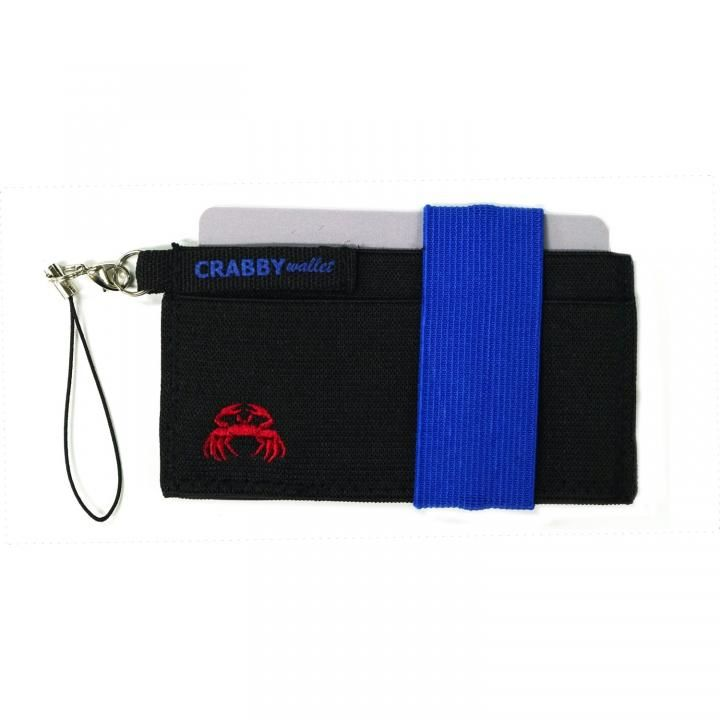 スマホに巻ける財布 Crabby Wallet V2 スポーティゴム版 ブルー_0