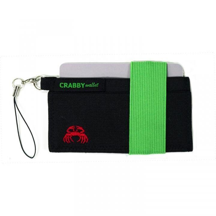 スマホに巻ける財布 Crabby Wallet V2 スポーティゴム版 グリーン_0