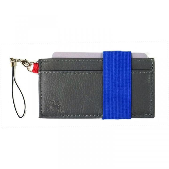 スマホに巻ける財布 Crabby Wallet L3 ビジネスレザー版 グレー_0