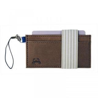 スマホに巻ける財布 Crabby Wallet L3 ビジネスレザー版 ブラウン