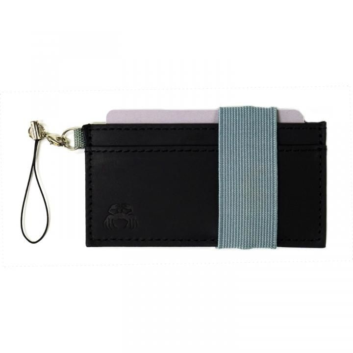 スマホに巻ける財布 Crabby Wallet L3 ビジネスレザー版 ブラック_0