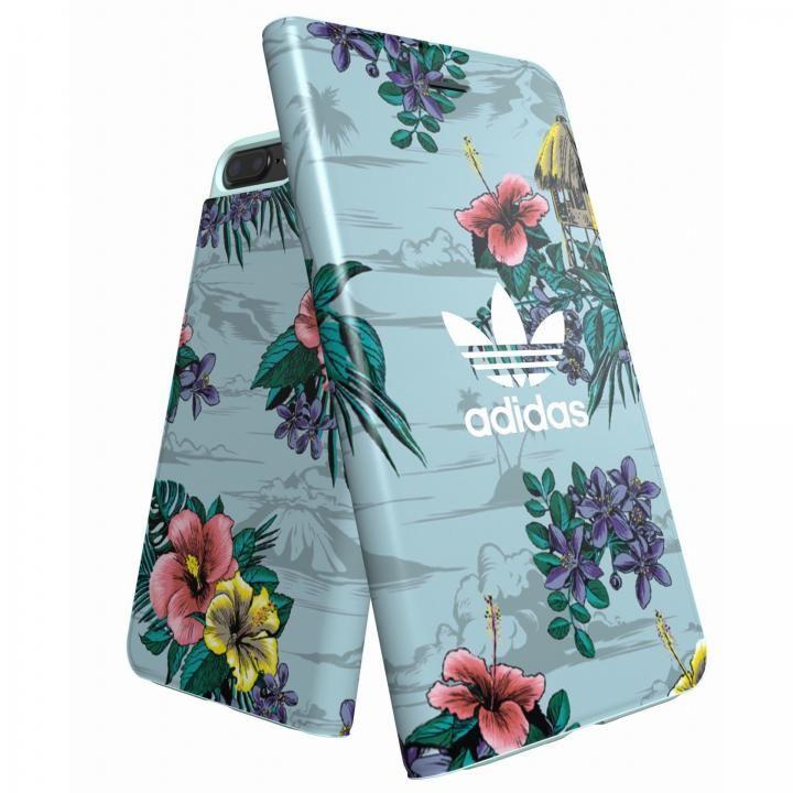 iPhone8 Plus/7 Plus ケース adidas Originals 手帳型ケース Floral/Ash Grey iPhone 8 Plus/7 Plus/6s Plus/6 Plus_0