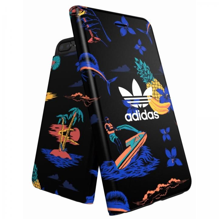 iPhone8 Plus/7 Plus ケース adidas Originals 手帳型ケース Beach/Black iPhone 8 Plus/7 Plus/6s Plus/6 Plus_0
