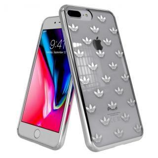 【iPhone8 Plus/7 Plusケース】adidas Originals クリアケース iPhone 8 Plus/7 Plus Trefoils Silver logo