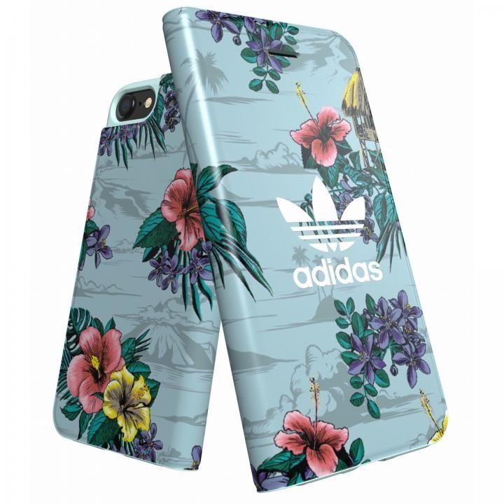 【iPhone8/7/6s/6ケース】adidas Originals 手帳型ケース Floral/Ash Grey iPhone 8/7/6s/6_0