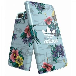 【iPhone6 ケース】adidas Originals 手帳型ケース Floral/Ash Grey iPhone 8/7/6s/6
