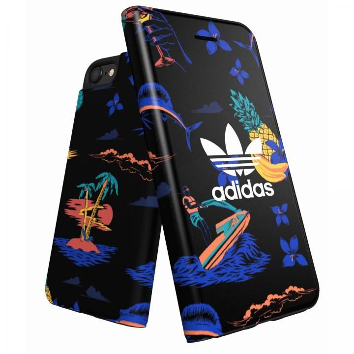 iPhone8/7/6s/6 ケース adidas Originals 手帳型ケース Beach/Black iPhone 8/7/6s/6_0