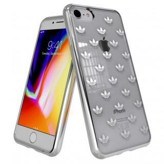 adidas Originals クリアケース iPhone 8/7 Trefoils Silver logo