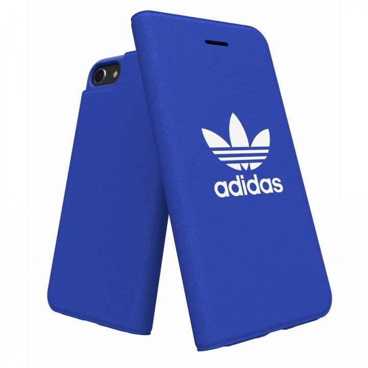 iPhone8/7/6s/6 ケース adidas Originals Adicol 手帳型ケース iPhone 8/7/6s/6 ブルー_0