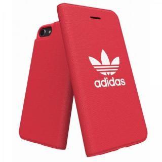 【iPhone8 ケース】adidas Originals Adicol 手帳型ケース iPhone 8/7/6s/6 レッド
