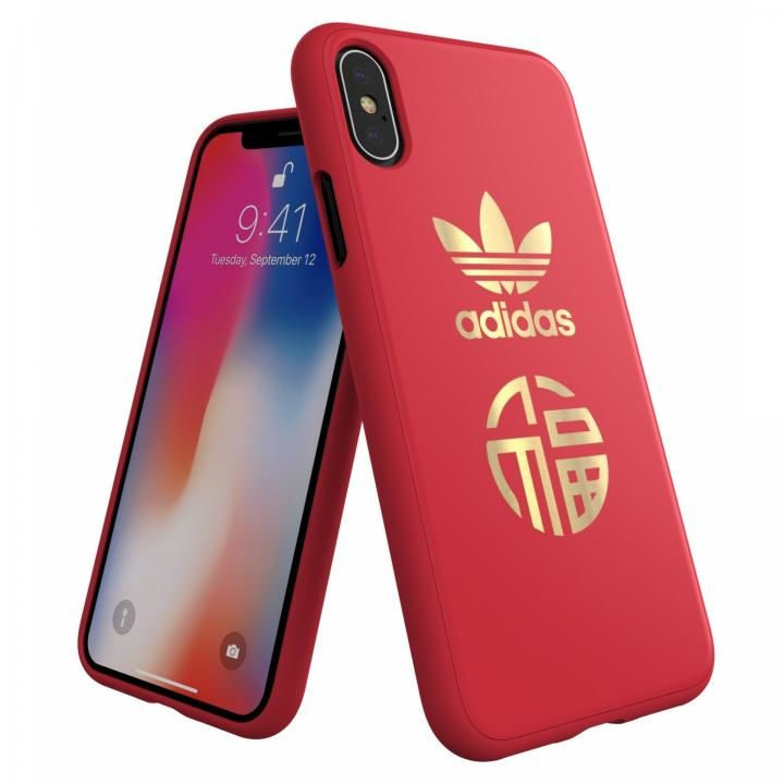 iPhone XS/X ケース adidas Originals CNY スナップケース Scarlet iPhone XS/X_0