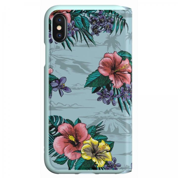 iPhone XS/X ケース adidas Originals 手帳型ケース Floral/Ash Grey iPhone XS/X_0