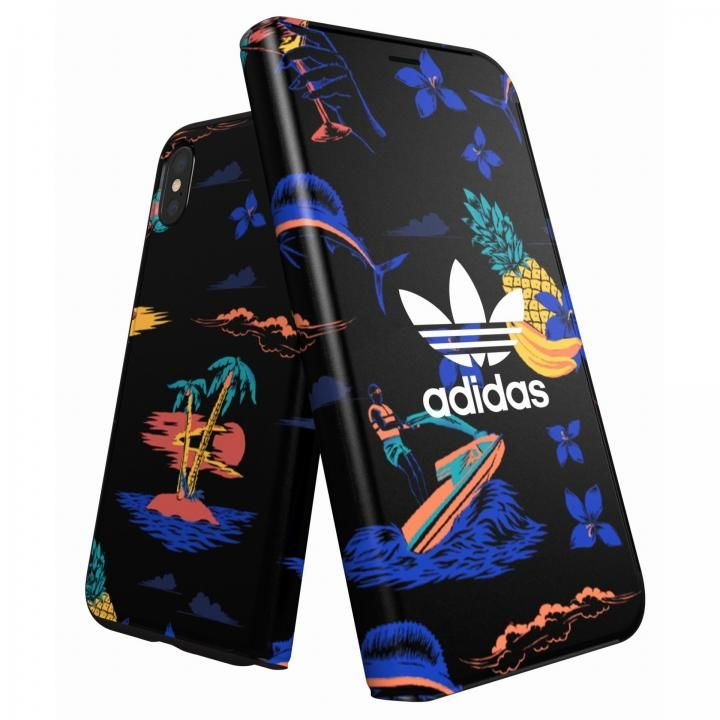 iPhone XS/X ケース adidas Originals 手帳型ケース Beach/Black iPhone XS/X_0