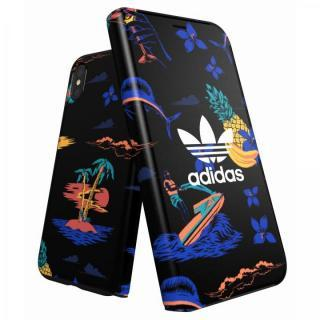【iPhone X ケース】adidas Originals 手帳型ケース Beach/Black iPhone X