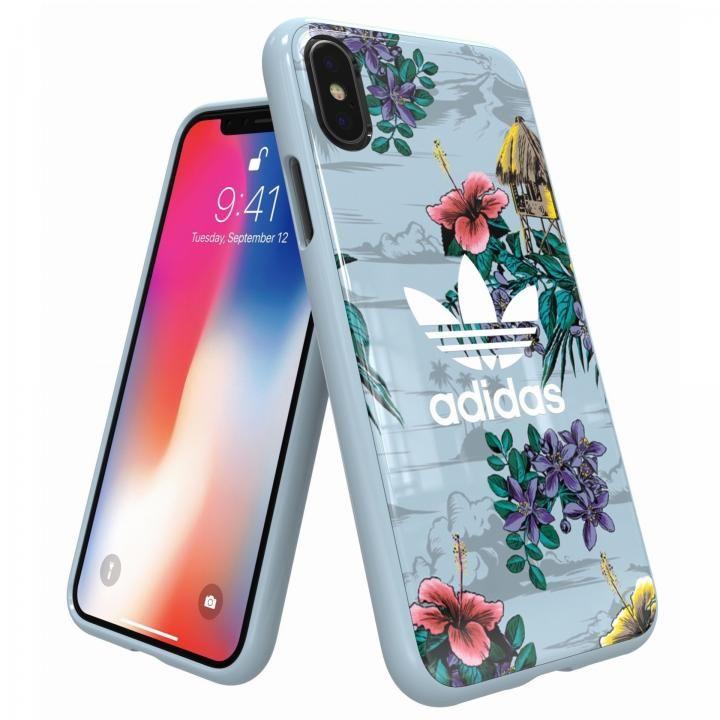 iPhone XS/X ケース adidas Originals スナップケース Floral/Ash Grey iPhone XS/X_0